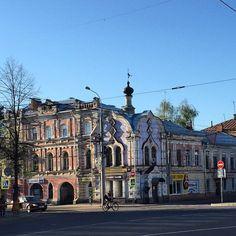 """""""Рыбинск - на удивление красивый город. Но очень бедный. #rybinsk #town , #car #trip"""""""