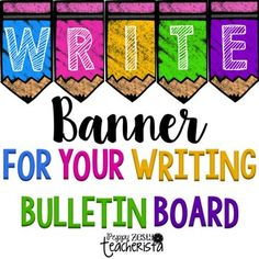 Write Banner for your Writing Bulletin BoardI recently posted a picture on my Instagram that received a lot of love! I wanted to offer the banner that I created for my board for free for my friends! :)Click HERE  to see what it looks like hung up!*****************************************************************************See more here!MORE Reading Banners!.All About Your New Teacher Editable Biography.Classroom Economy for Classroom Management…