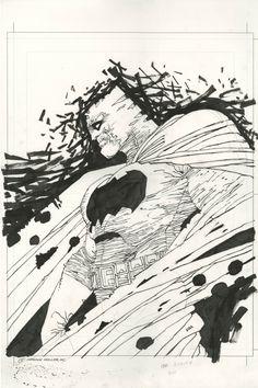 DARK KNIGHT BATMAN ILLUSTRATION ( FRANK MILLER ) MILLER'S TRIBUTE TO HIS MAGNUM OPUS--LARGE ART Comic Art