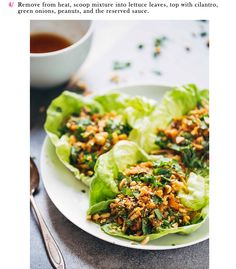 Peanut Chicken Lettuce Wraps with Ginger Garlic Sauce Instruction 4 | Party Recipes