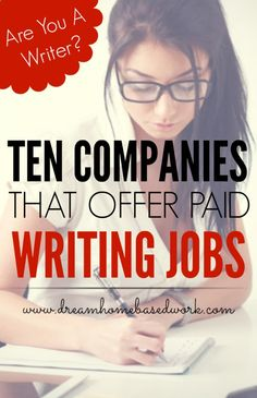 Are you a freelance writer? Check out 10 sites that offer paid writing jobs for stay at home moms, freelancers, teens, and more!