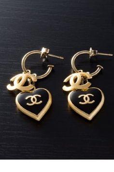 #chanel#earings#hearts#chic