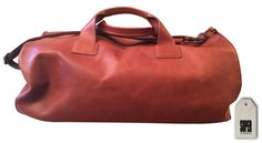 Travel Bag in genuine oiled leather made in italy www.supercompany.it www.agomanobag.it