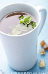 peppermint tea....headache, indigestion, bloating or gas and cold and flu symptoms