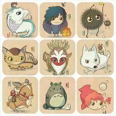 Studio Ghibli Art, Studio Ghibli Movies, Hayao Miyazaki, Personajes Studio Ghibli, Studio Ghibli Characters, Chihiro Y Haku, Japanese Animated Movies, Japon Illustration, Fan Art