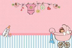 Chá de Bebê ou Chá de Fraldas Menina – Kit Completo com molduras para convites, rótulos para guloseimas, lembrancinhas e imagens! | Fazendo ...