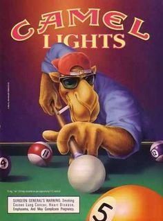 Camel Cigarettes Joe Camel – Billiards For more great pins go to Retro Advertising, Vintage Advertisements, Vintage Ads, Vintage Posters, Vintage Cigarette Ads, Play Pool, Up In Smoke, Magazine Ads, Old Ads