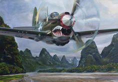 P-40 Warhawk My Blogs: Beautiful Warbirds Full Afterburner The Test Pilots P-38 Lightning Nasa History Science Fiction World Fantasy Literature & Art