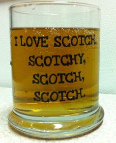Anchor Man I love Scotch ScotchRocks Glass by GorgeousGlassware, $18.00