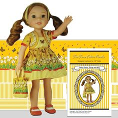 Dolls Art Dolls-ooak Punctual Dolls Dress Black Scottie Dog Design Fabric Fits Little Darling Dolls 13 To 14 I