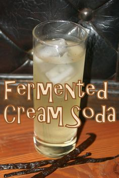 Next up in our fermented soda series is a delicious cream soda! If you like vanilla, you will adore this soda. It& full of rich fresh va. Cream Soda, Ginger Bug, Probiotic Drinks, Fermentation Recipes, Soda Recipe, Nourishing Traditions, Homemade Wine, Smoothie Drinks, Smoothies