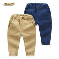 Baby Boys Pants Autumn Solid Casual Kids Pants Fashion Brand Boys Clothes Elastic Waist Children Trousers Toddler Boy Clothing