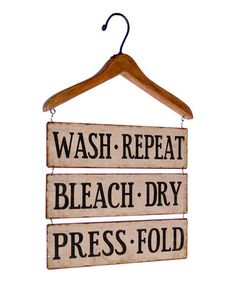 This Wood Hanger 'Wash, Repeat' Wall Sign is perfect! #zulilyfinds