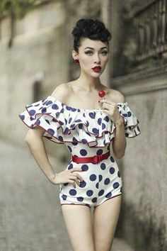 A gorgeous by the pool look. GET STYLE TIPS AT http://www.thevintagelighthouse.com/ RockAbilly Chick!!