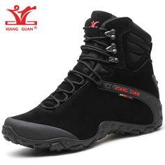 494e21a83e HAZ CLICK EN LA IMAGEN - XIANG GUAN hombres botas de senderismo de cuero de  vaca mujeres zapatos de Trekking negro impermeable deportes escalada  exterior ...