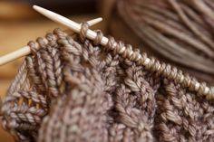cable, lace knit i-pod cozy  *Free pattern