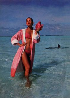 Model Laura Alvarez in Venezuela for Vogue Italia, 1976.