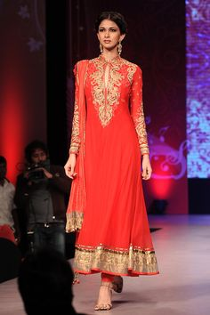 Resplendent red anarkali | Satya Paul. Simplicity defined, love their collection but pricey!!!