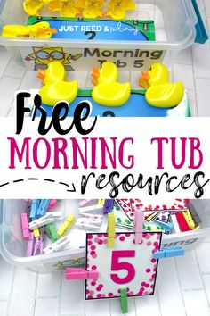 Replace your morning worksheets with morning tubs in preschool and kindergarten. This preschool teacher shows how she organizes and creates hands on morning bins that engage her students and provide fine motor practice. Learning Games For Preschoolers, Preschool Activities At Home, Special Education Activities, Morning Activities, Pre K Activities, Preschool Lesson Plans, Kindergarten Lessons, Preschool Curriculum, Preschool Worksheets