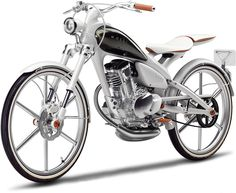 Yamaha Y125 Moegi Concept. Weighs in at a mere 176 pounds and potentially capable of 50 mph and a mindboggling 188 miles per gallon. One cool moped!