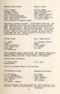 Our favorite recipes. Orange Date Nut Cake & Coconut Cake Retro Recipes, Old Recipes, Vintage Recipes, Apple Recipes, Baking Recipes, Cake Recipes, Dessert Recipes, Amish Recipes, Pastries