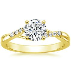 :) 18K Yellow Gold Chamise Diamond Ring from Brilliant Earth