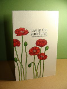 IC347 - Poppies All Around - Front by girlgeek101 - Cards and Paper Crafts at Splitcoaststampers