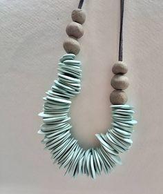 Bib necklace statement Simple &minimalist porcelain