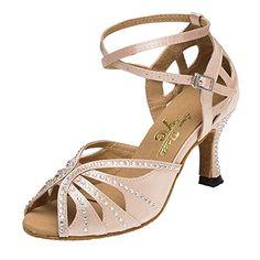 iBaste Damen Latin Satin Dance Shoes High Heel Sandale Pumps Ballschuhe Tanzschuhe - http://on-line-kaufen.de/ibaste-9/37-eu-ibaste-damen-latin-satin-dance-shoes-high-7