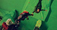 Tom Hiddleston, Chris Hemsworth & Anthony Hopkins   Loki, Thor & Odin in Thor (2011)   Behind the scenes
