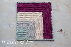 Color Block Afghan Square - Afghan Crochet-a-long