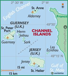 Map Of Channel Islands European Maps Europe Maps Channel