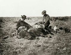 Buffalo Hunt in Taylor County, Texas 1874 Old West Photos, Westerns, Texas Cowboys, Hunting Pictures, Texas History, History Photos, Cowboy And Cowgirl, Mountain Man, Historical Pictures