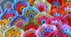 Crochet   Things I want to do   Pinterest   Hexagons, Crochet and Colour