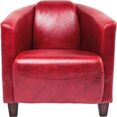 red leather armchair Sessel Cigar Lounge Red