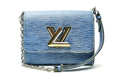 Louis Vuitton twisted chain epi leather in denim light