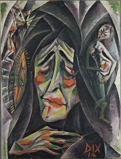 "www.gorringeantiques.co.uk ""The Nun"" by Otto Dix in 1914, German Expressionism…"