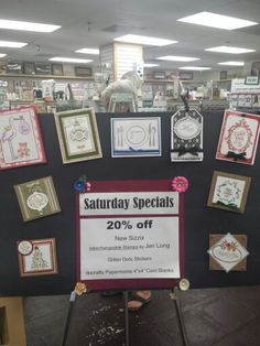 Saturday's Special! 20% off New Sizzix interchangeable Stamps by Jen Long! Glitter Dots Stickers! DoCrafts Paper mania 4x4 Card Blanks!