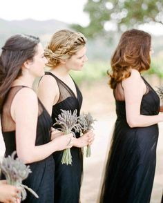 Pretty Wedding Hairstyles for Your Bridesmaids | Martha Stewart Weddings - We have a soft spot for a classic milkmaid-inspired braid. It's a pretty hairstyle option for bridesmaids, especially at an outdoor wedding when they'd like to keep their hair in place.