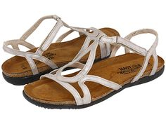 Naot Footwear Dorith Quartz Leather I like these for my wedding shoe and for a nice sandal too!!