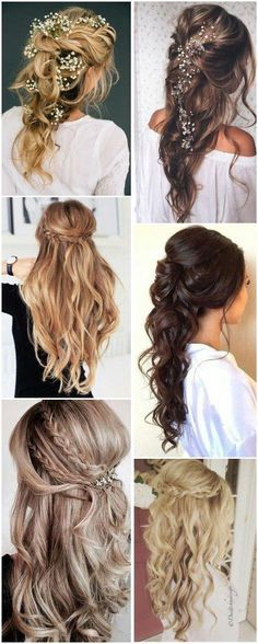 Nice Wedding Hairstyles 22 Half Up and Half Down Wedding Hairstyles to Get You Inspired See more: www.weddinginclud The post Wedding Hairstyles 22 Half Up and Half Down Wedding Hairstyles to Get You Ins appeared first on New Hairstyles . Half Up Half Down Hair Prom, Wedding Hairstyles Half Up Half Down, Wedding Hair Down, Wedding Hairstyles For Long Hair, Wedding Hair And Makeup, Bride Hairstyles, Bridal Hair, Hairstyles Haircuts, Simple Hairstyles