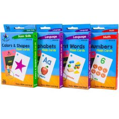 Star Right Flash Cards Set of 4 - Numbers Alphabets First Words Colors for sale online Cool Math For Kids, Fun Math, Star Apple, One Word, Color Shapes, Fun Learning, Alphabet, Language, Education