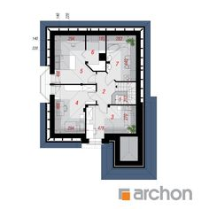 Projekt domu Dom w rukoli - ARCHON+ Beautiful House Plans, Beautiful Homes, Modern Architecture House, Design Case, House Floor Plans, My Dream Home, Home Projects, Sweet Home, Flooring