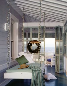 Porch swing day bed ~ beautiful room