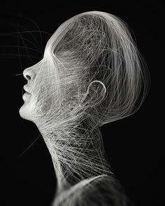 2014 / 2 on Behance Graphic Design Cv, Ballpoint Pen Art, Black Paper Drawing, Illusion, Dark Drawings, Shirt Print Design, Generative Art, Quilting, Hologram