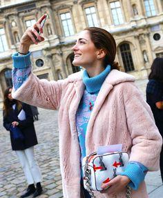 Sofia Sanchez de Betak with a Prada bag