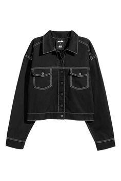 Krátká keprová bunda - Černá - ŽENY  de05bb9bb19