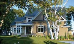 maibec wood shingles used: white cedar shingles, white mouldings Wood Siding, Exterior Siding, Cedar Shingles, White Cedar, Colored Highlights, Contemporary Architecture, Urban, Natural Wood, Mansions