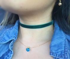 A personal favorite from my Etsy shop https://www.etsy.com/ca/listing/279429006/gift-emerald-necklacegreen-necklacetiny