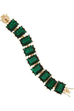 Estate Green Emerald Bracelet / Holiday Bauble